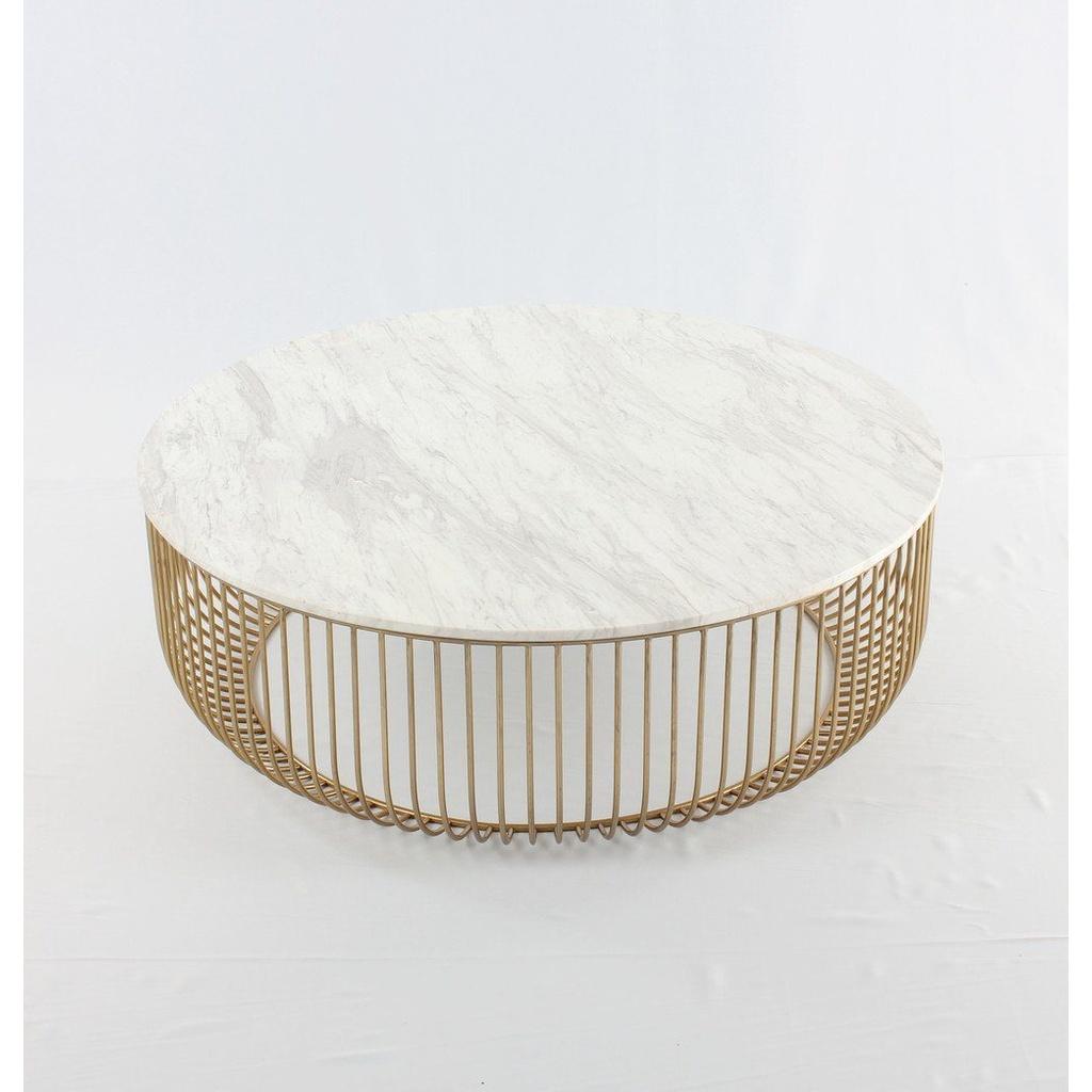 Carrara Marble Gold Coffee Table